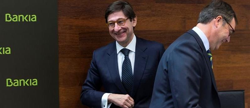 Bankia reparte 302 millones a sus accionistas; 194 al Estado