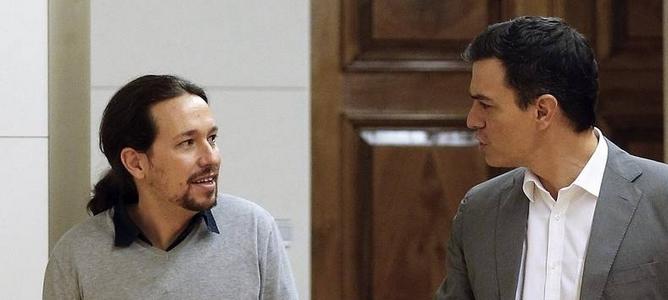 Pedro Sánchez reta a Susana Díaz al negociar con Iglesias