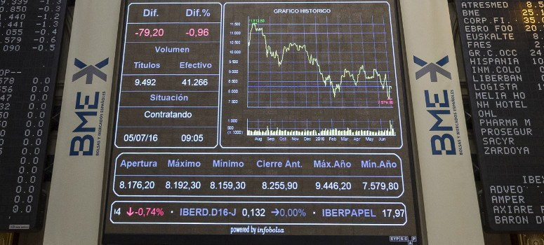 El IBEX 35 cierra julio con subidas del 5% y roza los 8.600 puntos