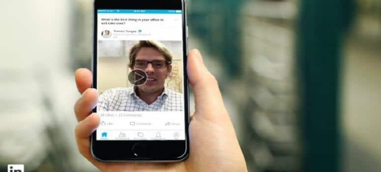 Los influencers podrán subir vídeos a LinkedIn