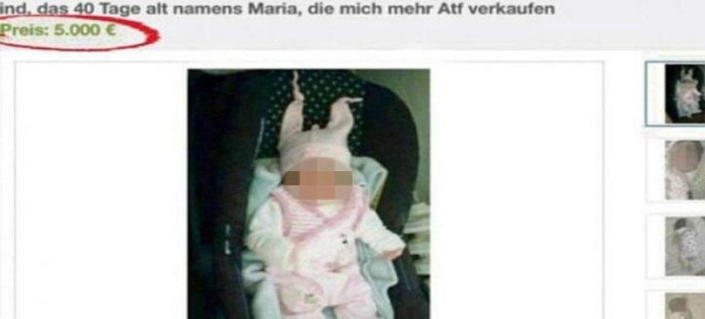 Una familia de refugiados intenta vender a su bebé en eBay
