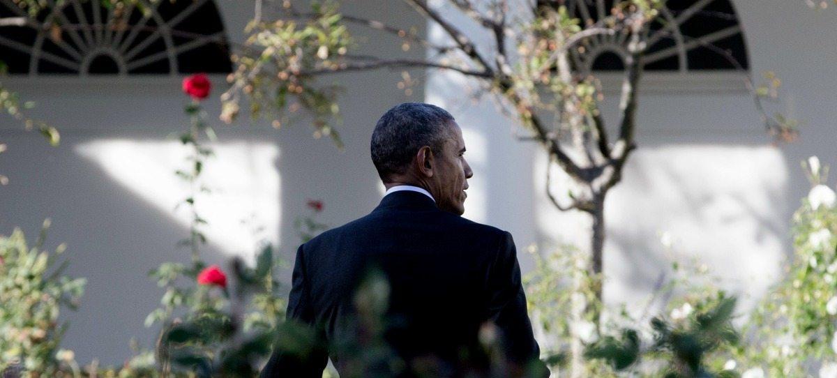 """Fotos: """"Adiós, asesino"""": Así despiden a Obama cerca del Pentágono"""