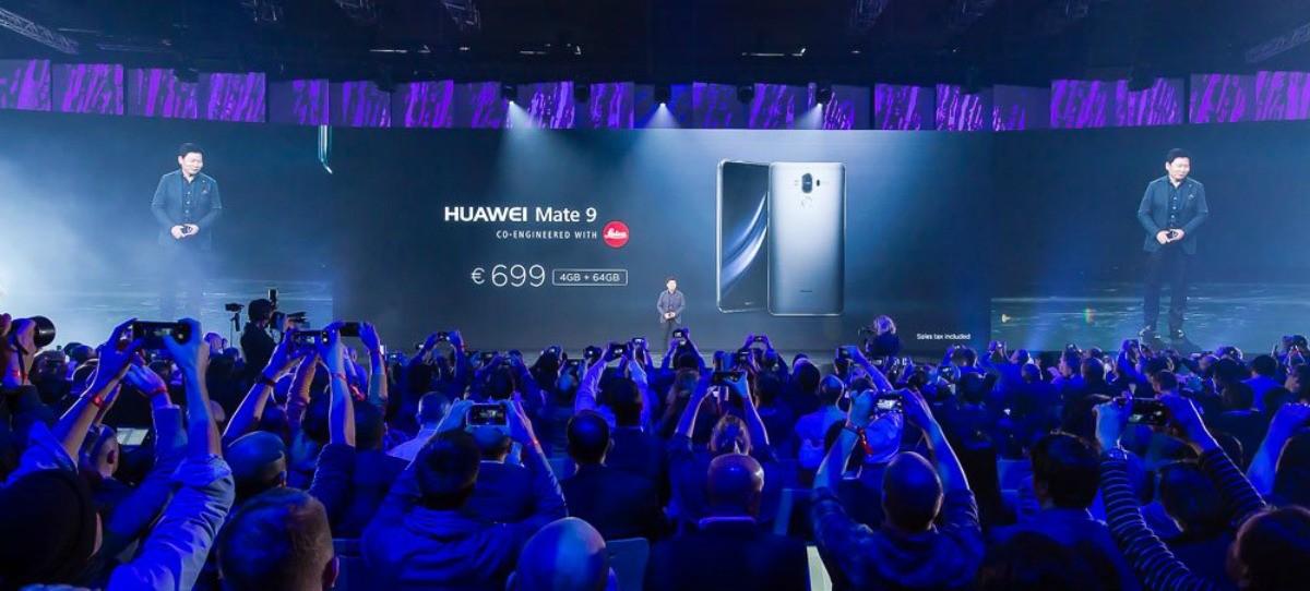 Huawei presenta su nuevo smartphone de alta gama, el Mate 9