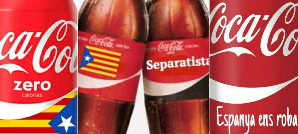 Coca-Cola se rinde al independentismo catalán y las redes piden el boicot