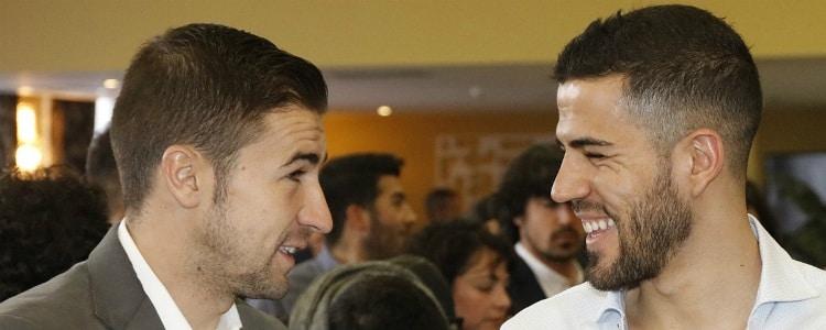 El Atlético invita a Domínguez a su comida de Navidad