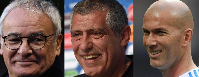 Ranieri, Fernando Santos y Zidane, candidatos a mejor entrenador