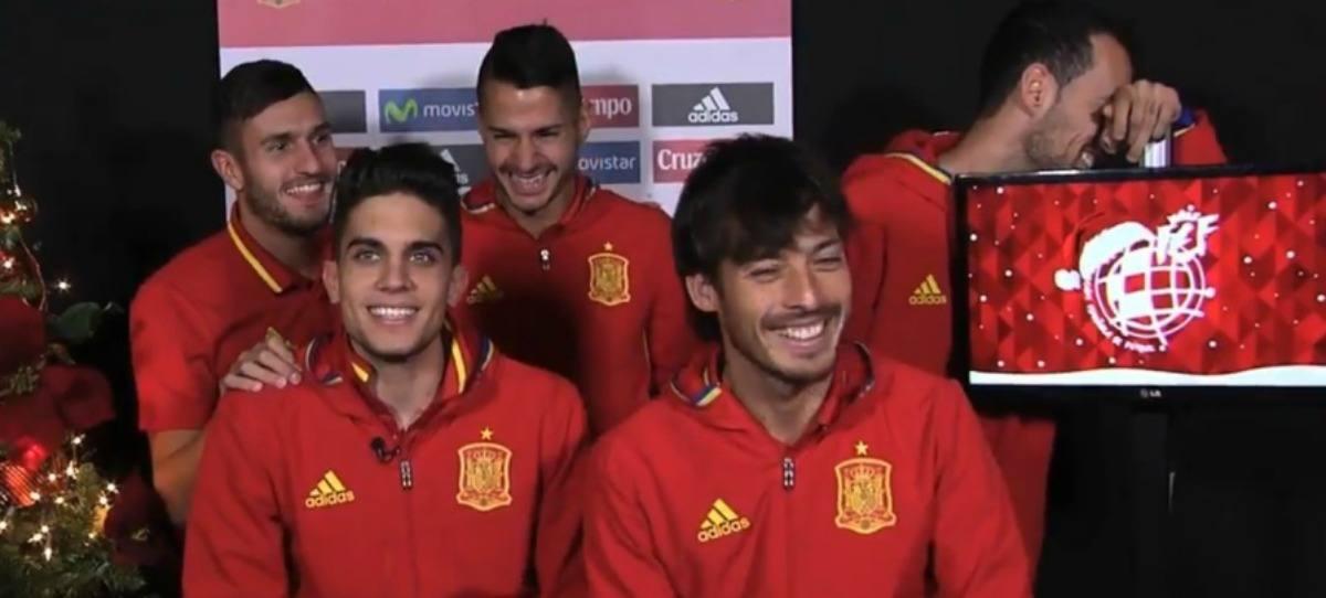 Las tomas falsas de la Selección Española de fútbol en su felicitación de Navidad