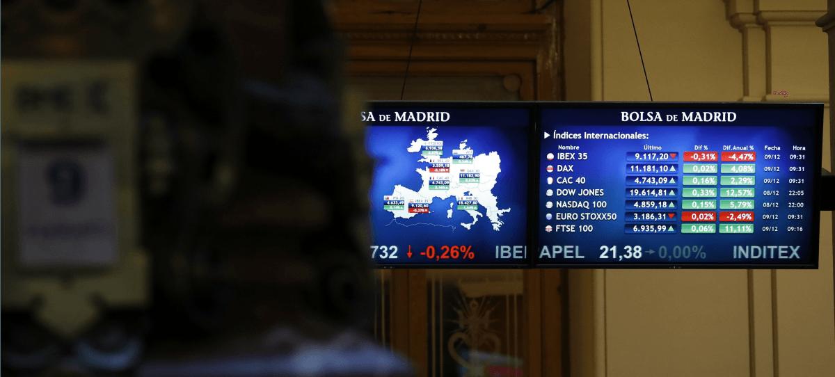 Un IBEX 35 optimista sube un 0,26% y se consolida en los 9.100