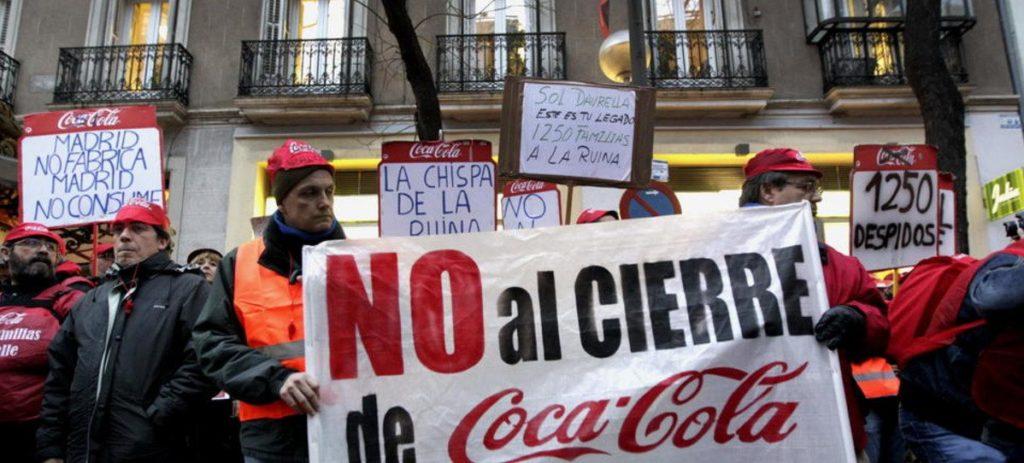 """Los trabajadores avisan a Coca-Cola: """"Habrá un vietnam americano"""""""