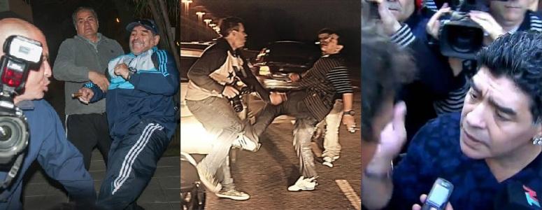 Las Agresiones De Diego Maradona A Periodistas