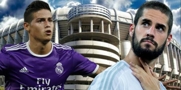El Real Madrid pone a Isco en venta para quedarse con James