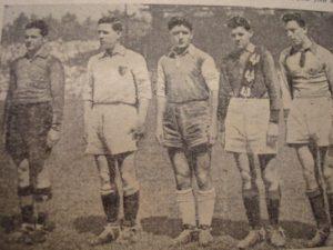 Kopa, segundo por la izquierda, en 1949