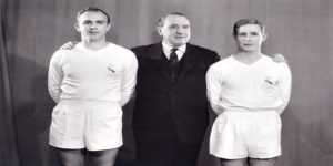Alfredo Di Stéfano, Santiago Bernabéu y Raymond Kopa