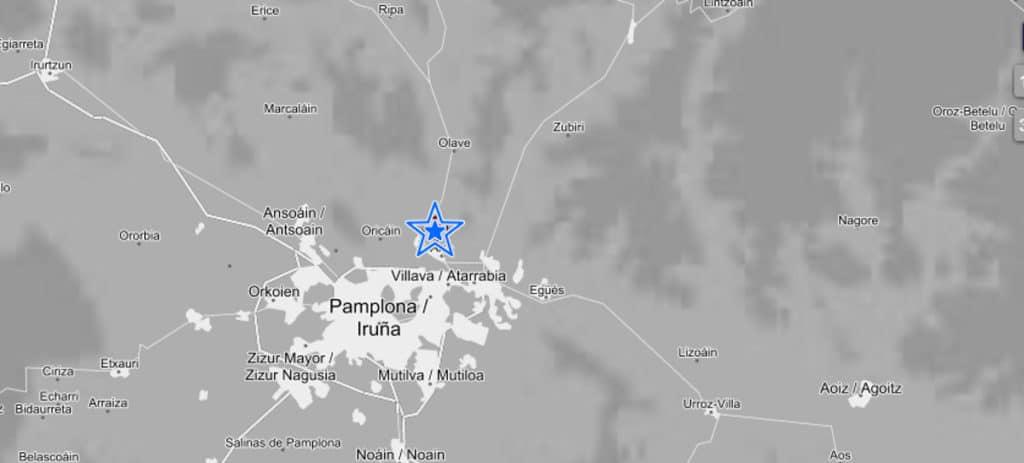 Un terremoto de 4,4 grados levanta a Pamplona