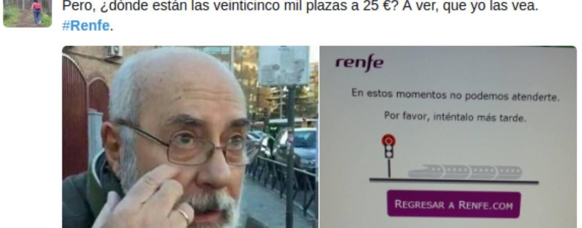 Renfe se colapsa con su oferta de billetes a 25 euros y la red se llena de memes