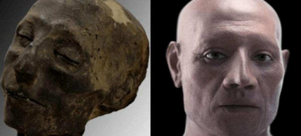 Científicos recrean el rostro de una momia de 3.500 años de edad