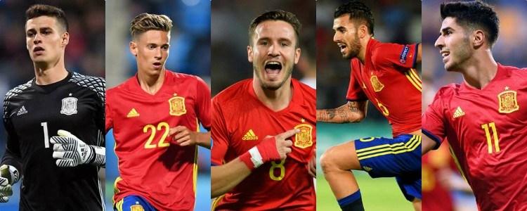 Las 5 estrellas de España Sub-21: Kepa, Llorente, Saúl, Ceballos y Asensio