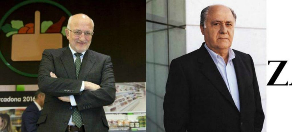 Amancio Ortega y Juan Roig, los más ricos de Europa