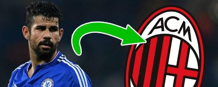 El Atlético ofrece la cesión de Diego Costa al Milan hasta enero