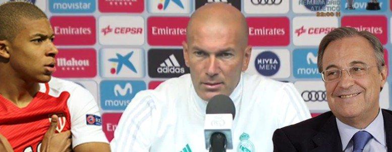 """Zidane advierte a Florentino: """"Necesitamos un delantero"""""""