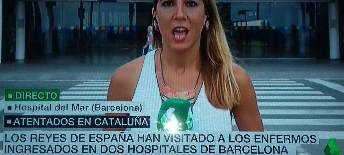 La Sexta informa sobre los 'enfermos' del atentado en Barcelona y no de 'victimas'