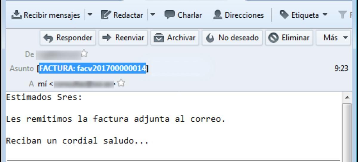 Vuelven los mails con facturas infectadas con malware