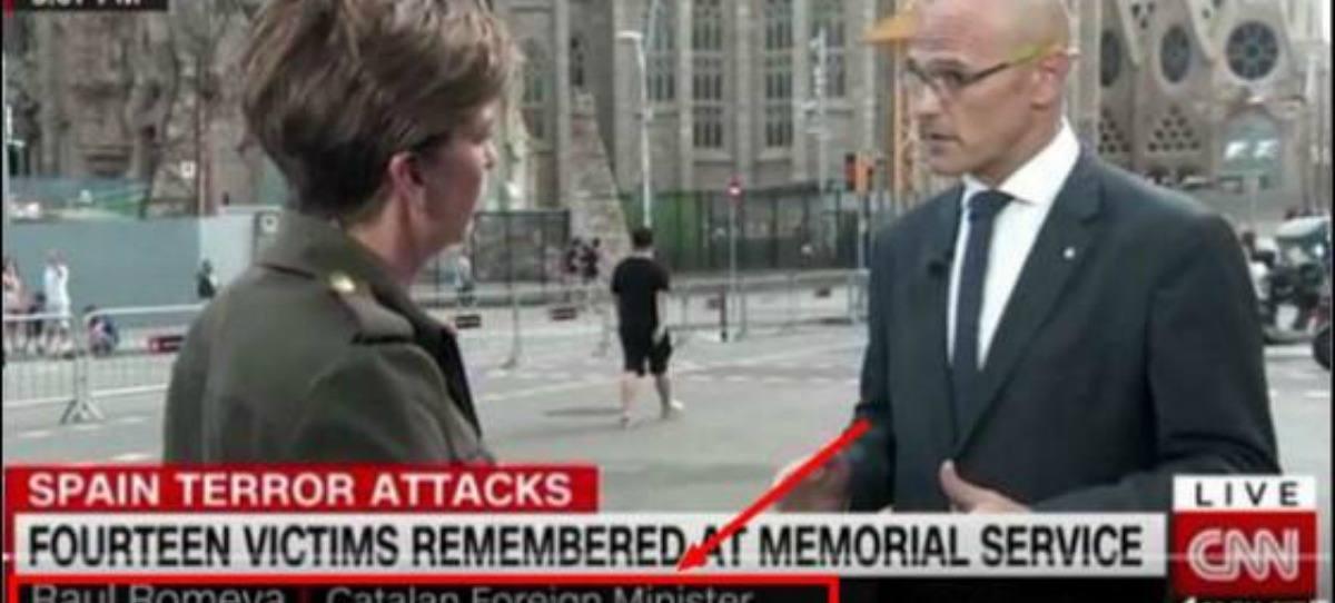 """La CNN presenta a Romeva como """"ministro catalán de Exteriores"""""""