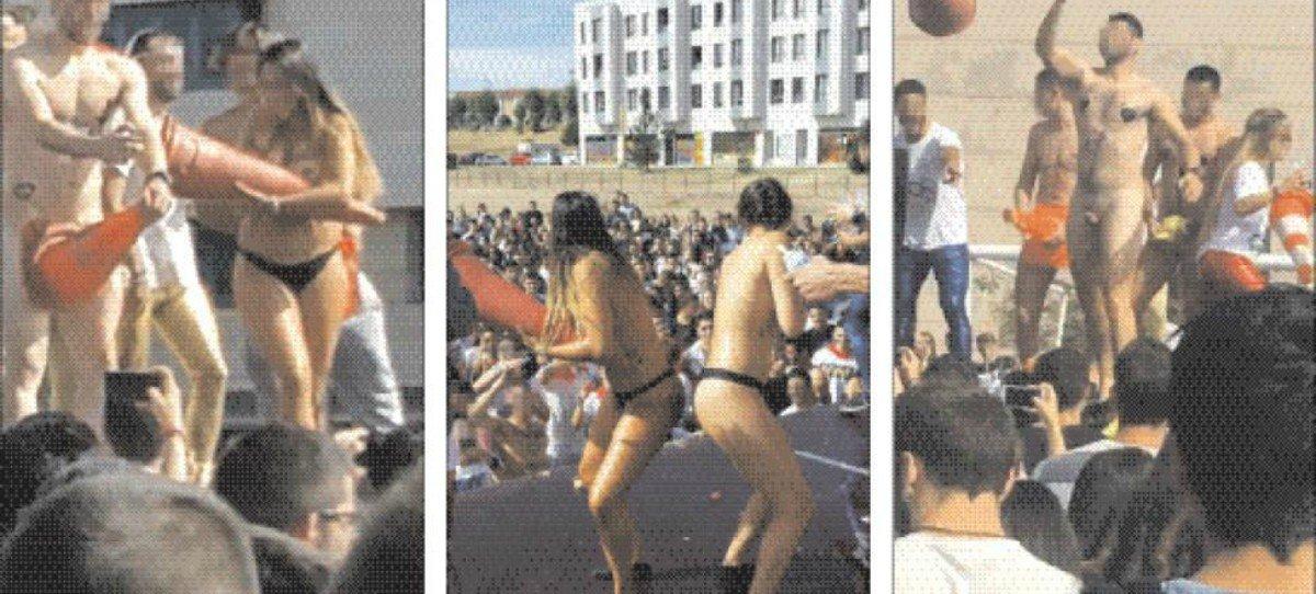 Novatadas en la Universidad de León: Subasta de novatos desnudos