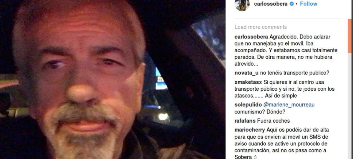 Carlos Sobera, indignado con el plan anticontaminación de Carmena