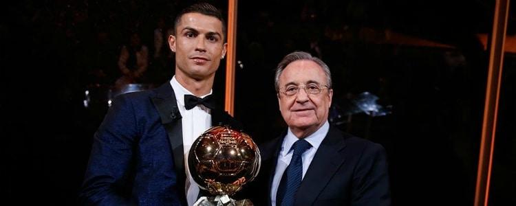 """Florentino Pérez: """"Cristiano Ronaldo es el mejor de la historia junto a Di Stéfano y su sucesor"""""""
