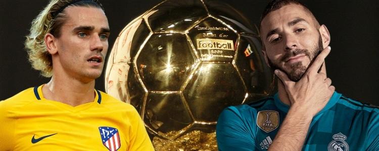 Griezmann se hunde en la clasificación del Balón de Oro y Benzema resiste en el 25