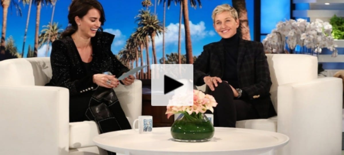 Las frases en español que Penélope Cruz enseña a Ellen DeGeneres
