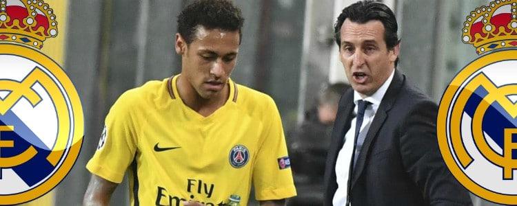 """Emery sorprende: """"Hay una pequeña opción de que Neymar juegue contra el Real Madrid"""""""