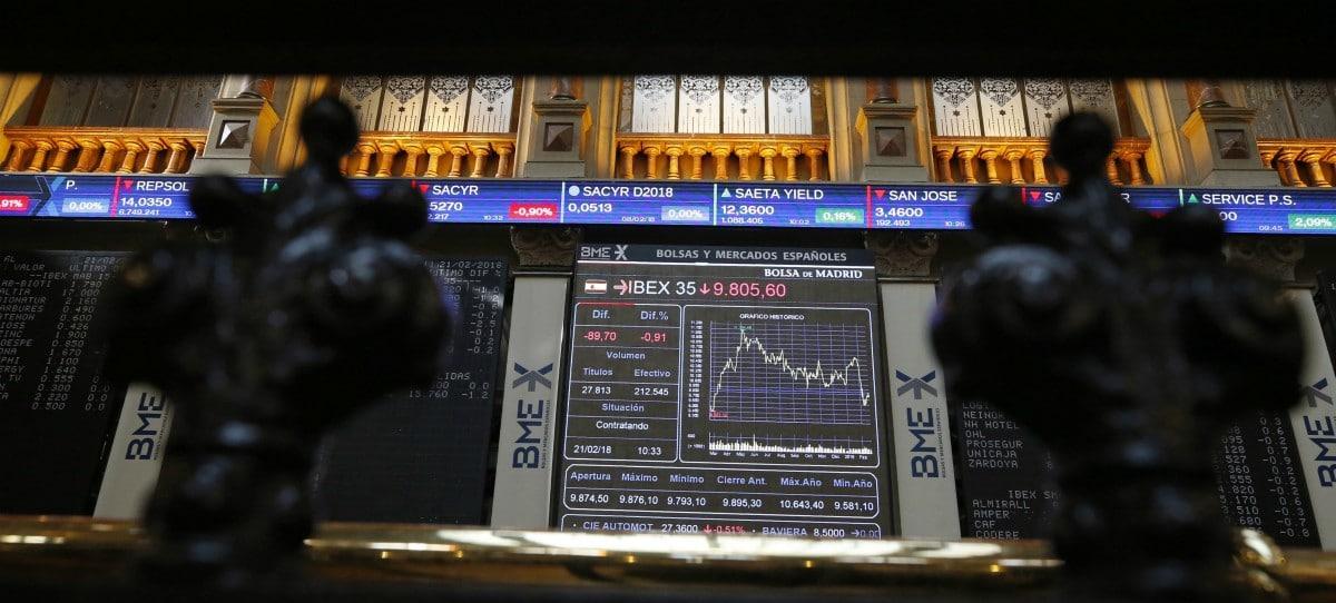 El IBEX 35 cierra con una caída del 0,73% pero mantiene los 9.800 puntos