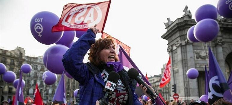 Menos de 24 de cada 100 mujeres hicieron huelga en Madrid