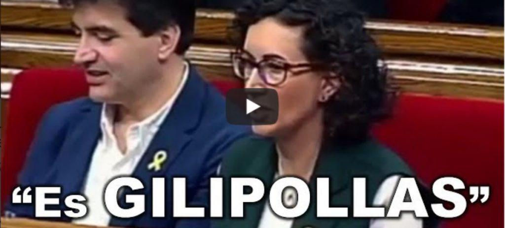 "Una cámara Pilla a Rovira llamando ""gilipollas"" a Arrimadas en el Parlament"