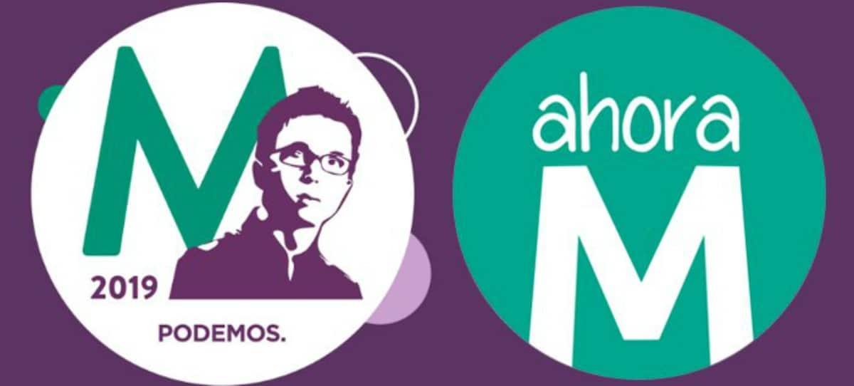 Errejón plagia el logo de Ahora Madrid, encabezado por Carmena