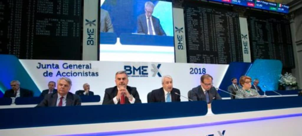 BME pagará un dividendo de 0,40 euros brutos por acción el 14 de septiembre