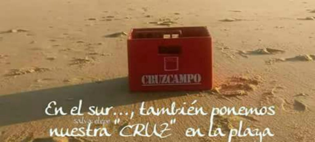 La campaña viral que no es de Cruzcampo: «ponemos nuestra 'CRUZ' en la playa»