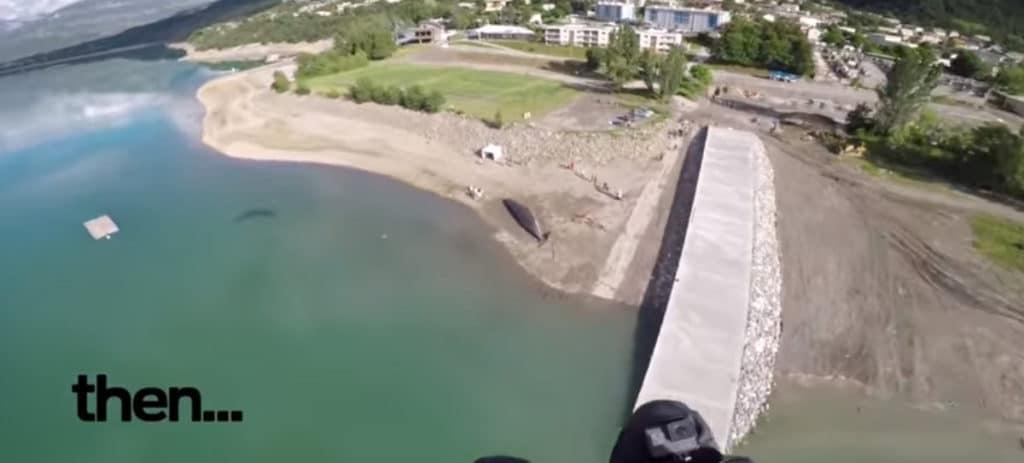 Un paracaidista encuentra un 'cachalote' en los Alpes