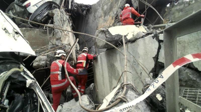 Ascienden a 41 las víctimas del derrumbe del puente en Génova