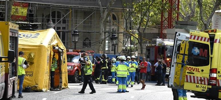 Muere una persona en el derrumbe del hotel Ritz