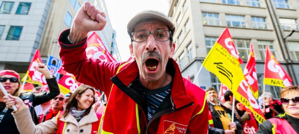 Los sindicatos europeos no reúnen ni 5.000 personas en Bruselas contra lo que ellos denominan la 'ultraderecha'