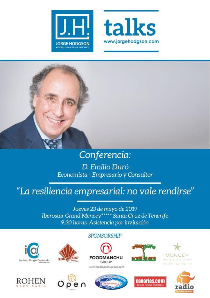 JH Asesores Financieros trae a Emilio Duró a Tenerife