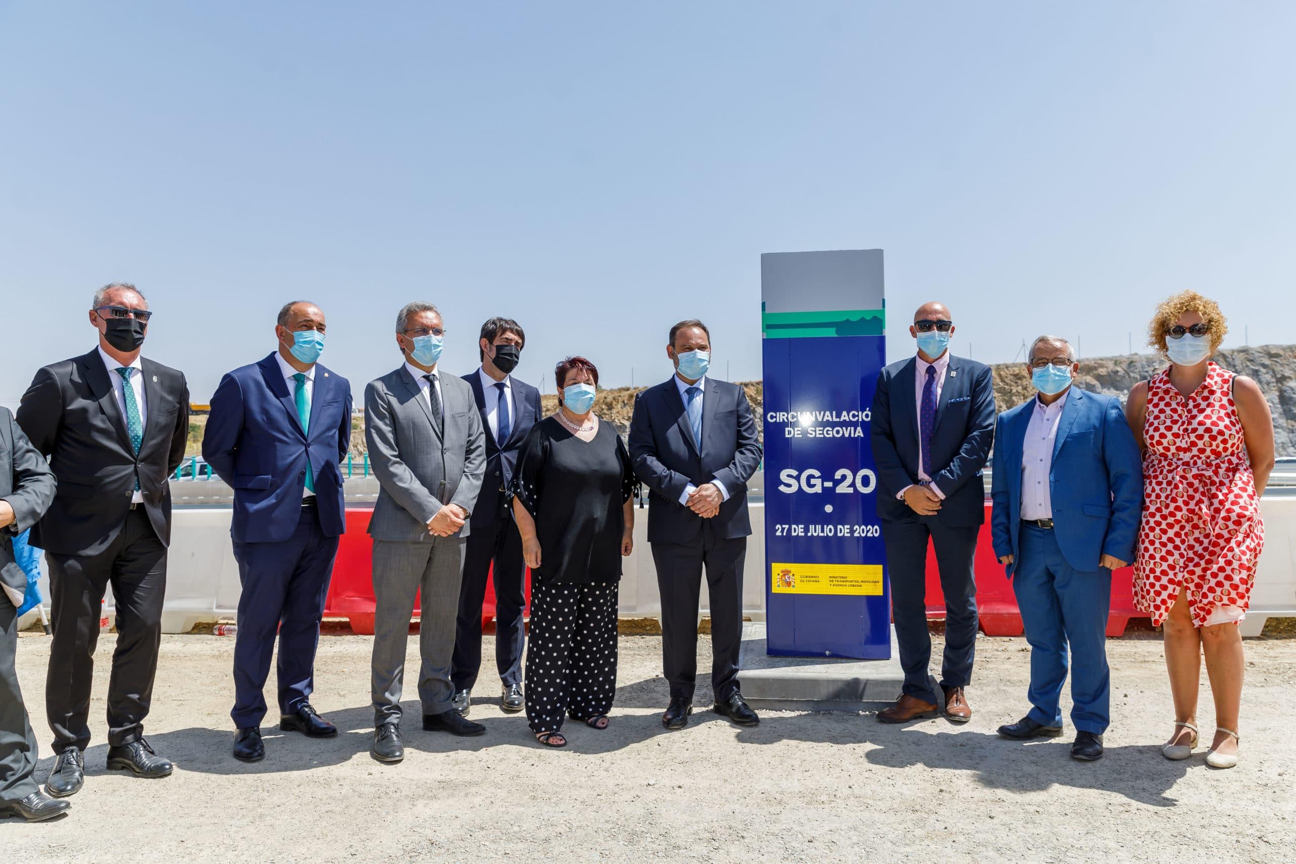 Ábalos inaugura el último tramo de la SG-20, en la que se han invertido 55 millones