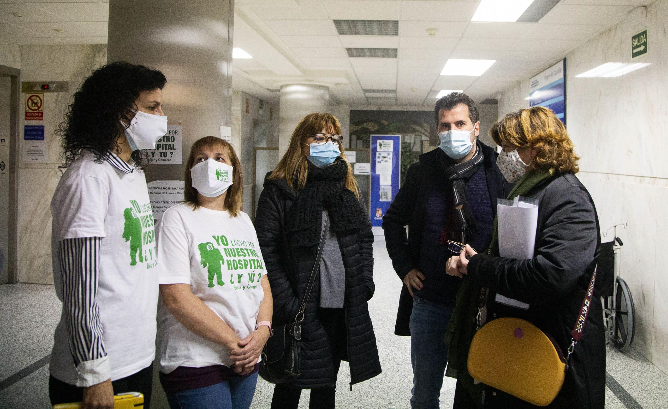 Tudanca exige a la Junta que recupere urgencias 24 horas e ingresos en el Hospital de Béjar
